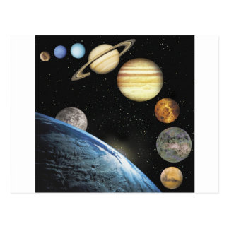 sistema solar cartões postais