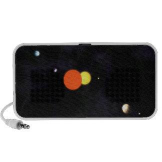 Sistema Solar con una estrella binaria y cuatro pl Laptop Altavoz