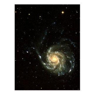 Sistema Solar de la galaxia colorida de la vía Tarjeta Postal