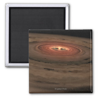 Sistema Solar del concepto del artista mini en la  Imán Cuadrado