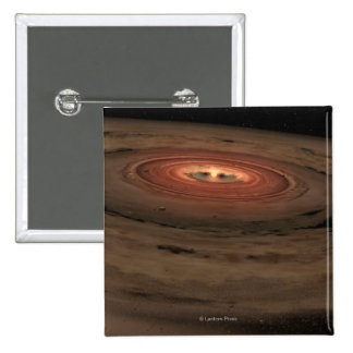 Sistema Solar del concepto del artista mini en la  Pin