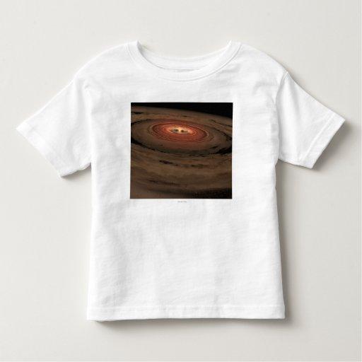 Sistema Solar del concepto del artista mini en la Camiseta