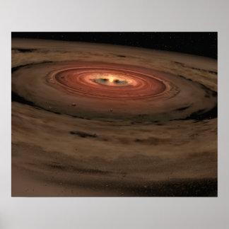 Sistema Solar del concepto del artista mini en la  Póster