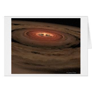 Sistema Solar del concepto del artista mini en la  Tarjeta De Felicitación