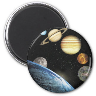 sistema solar imã de geladeira