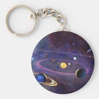 Sistema Solar Llavero Redondo Tipo Pin