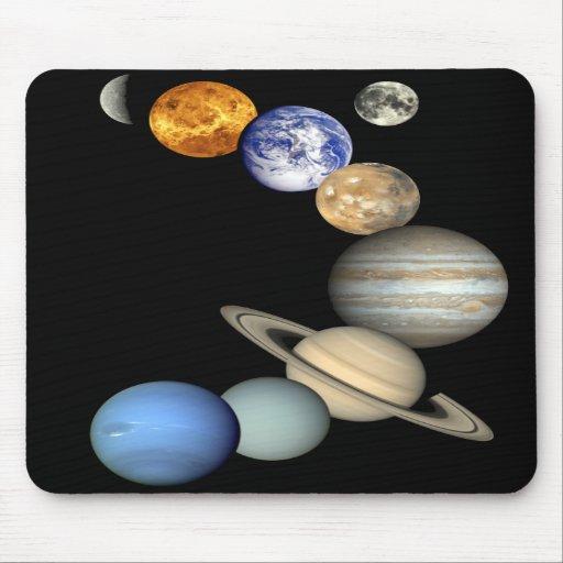Sistema Solar Mousepad Alfombrillas De Ratones