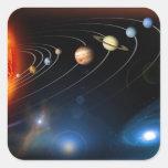 """""""Sistema Solar """" Calcomania Cuadradas Personalizadas"""