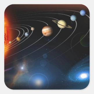 """""""Sistema Solar """" Pegatina Cuadrada"""
