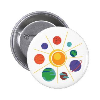 Sistema Solar Pin Redondo 5 Cm