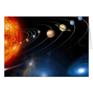 """Sistema Solar "" Tarjeta De Felicitación"