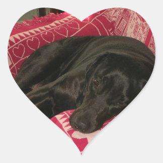 Sistema soñoliento del pegatina del perro