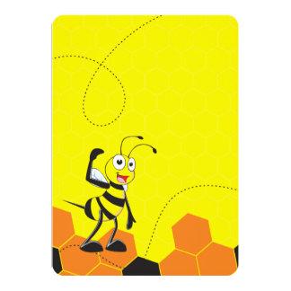 """Sistema sonriente feliz amarillo lindo de la invitación 5"""" x 7"""""""