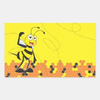 Sistema sonriente feliz amarillo lindo de la pegatina rectangular