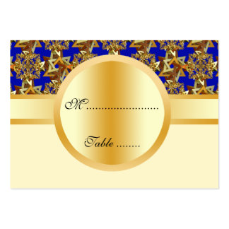 Sistema Spangled estrella del boda Tarjetas De Visita Grandes