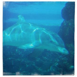Sistema subacuático del delfín de cuatro servilleta de papel