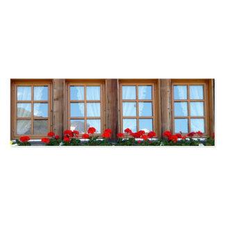 Sistema suizo de la señal de la foto de la ventana plantilla de tarjeta de negocio
