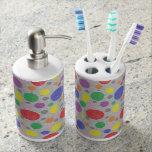 Sistema transparente del baño de burbujas del arco vasos para cepillos de dientes