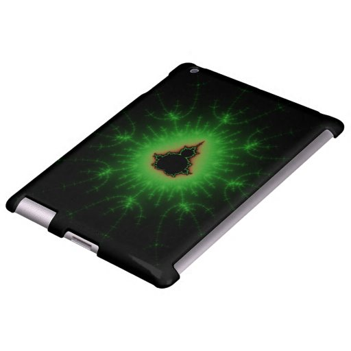 Sistema verde de Mandelbrot Funda Para iPad