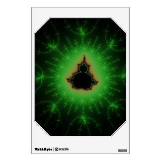 Sistema verde de Mandelbrot Vinilo