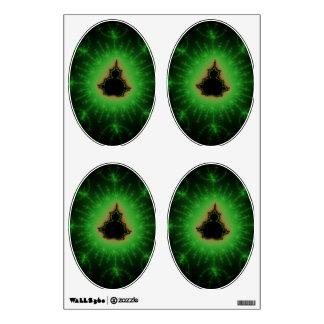 Sistema verde de Mandelbrot Vinilo Decorativo