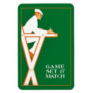 Sistema y partido, árbitro retro del juego del iman rectangular