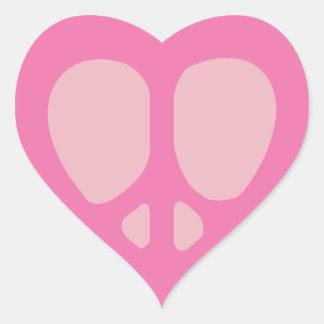Sistemas adaptables del pegatina del corazón de la