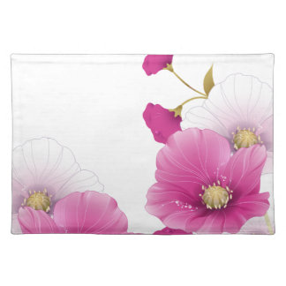 SISTEMAS blancos de la DECORACIÓN de las flores fl Manteles