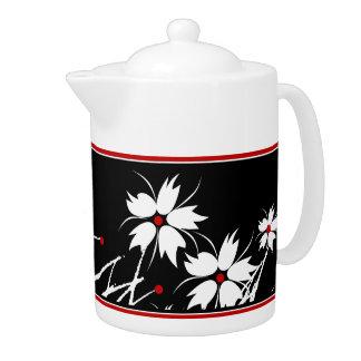 SISTEMAS blancos negros rojos florales de la DECOR