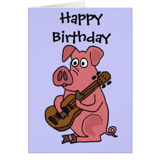 SISTEMAS DE PESOS AMERICANOS cerdo divertido que j Tarjeta De Felicitación
