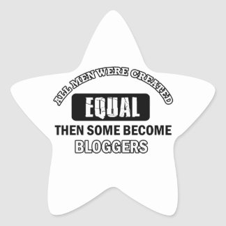 Sistemas de trabajo del Blogger Calcomanías Forma De Estrella