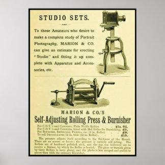 Sistemas del estudio del ~ del anuncio de la fotog póster