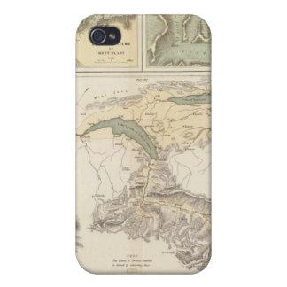 Sistemas del glaciar de las montañas iPhone 4 protector
