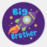 Sistemas del hermano de la nave de hermano mayor pegatina redonda