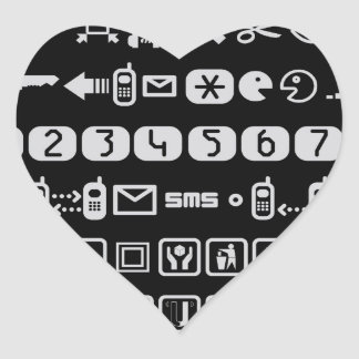 Sistemas del icono pegatina en forma de corazón