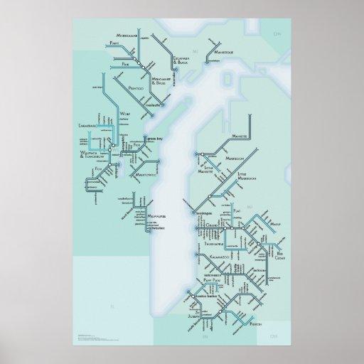 Sistemas del lago Michigan Póster