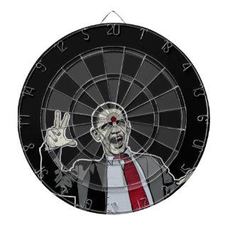 Sistemas del tablero de dardo de Obama del zombi