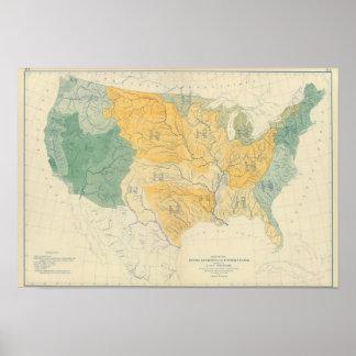 Sistemas fluviales en los E.E.U.U. Póster