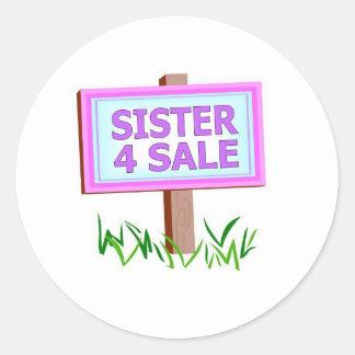 sister 4 sale classic round sticker