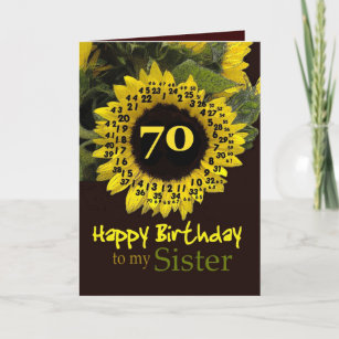 sisters 70th birthday cards zazzle