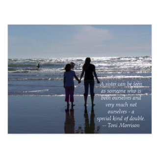 Sister-a special kind of double card postcard