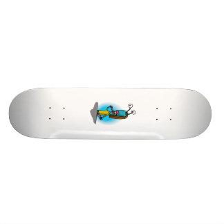 Sister Alien Brushing Teeth Skateboard