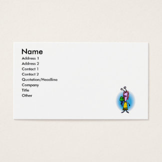 Sister Alien with Ice Cream Business Card