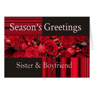 sister and boyfriend Merry Christmas card