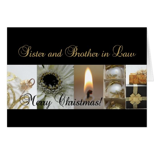 Sister and Brother in Law Christmas black & White Card