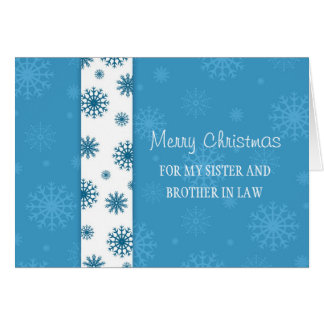Sister and Brother  in Law Merry Christmas Card