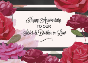 Brother And In Laws Anniversary Sister Invitations Zazzle