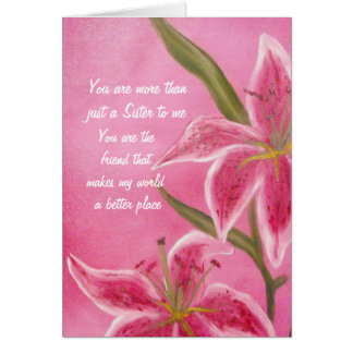 Sister and Friend Valentine Card