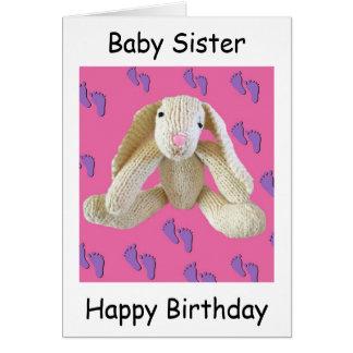 Sister baby birthday card Bunny Rabbit lovely!