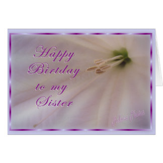 Sister Bday/Flower & ribbon Card